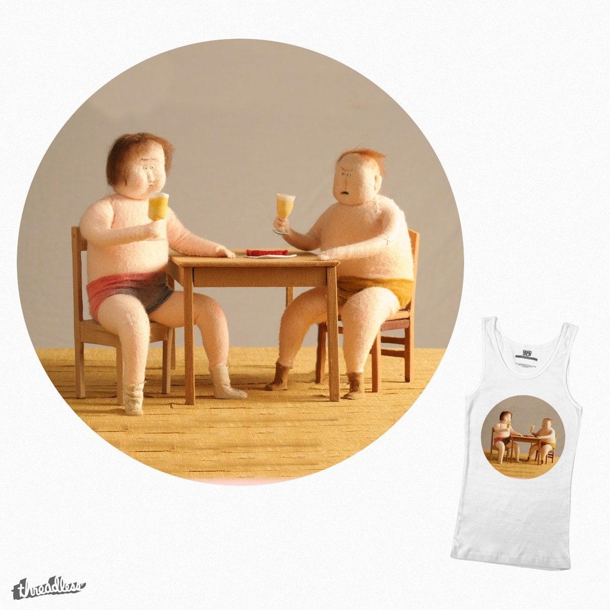 drinking boys by emmads on Threadless