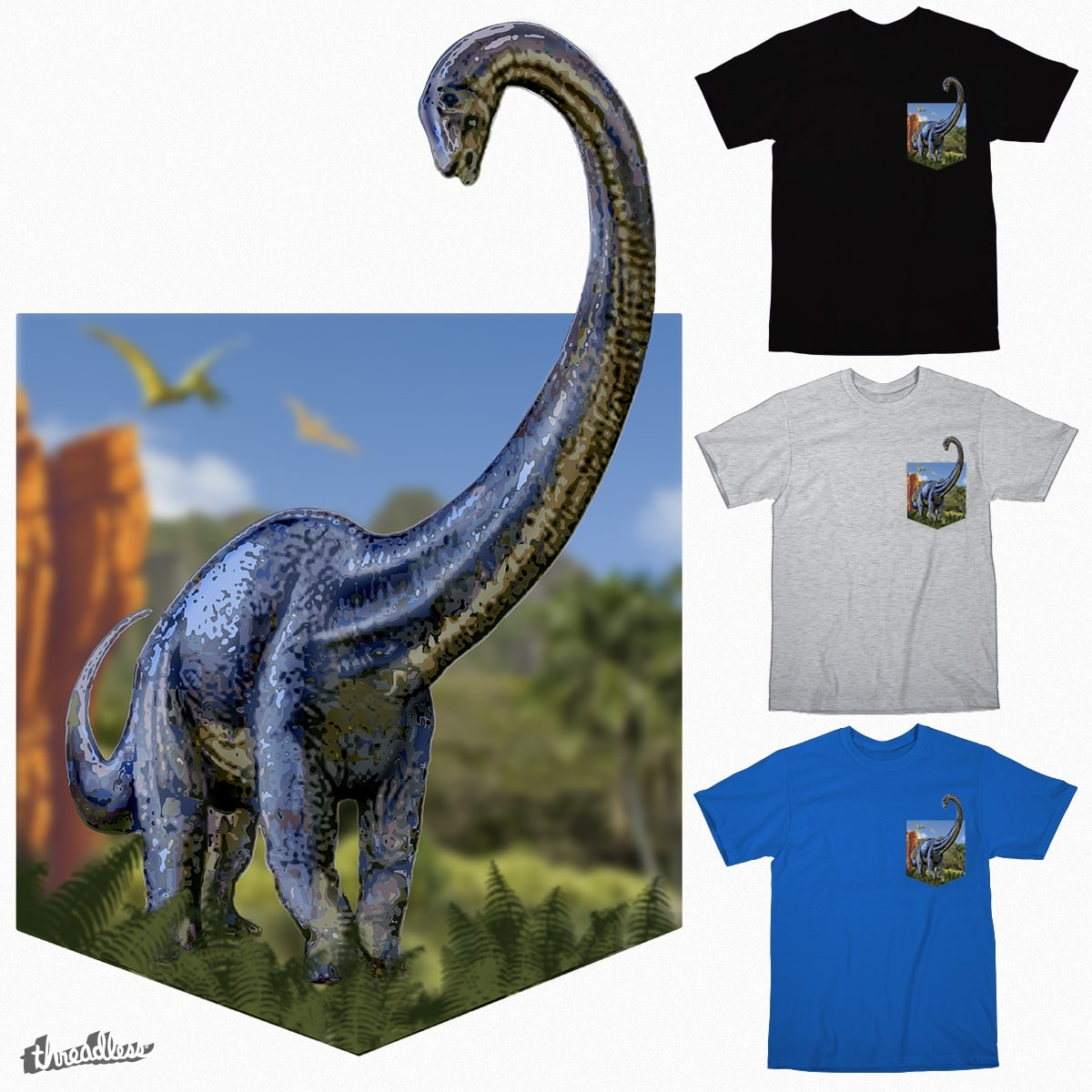 Dinosaur World - Pocket Edition. by jamieBryant on Threadless