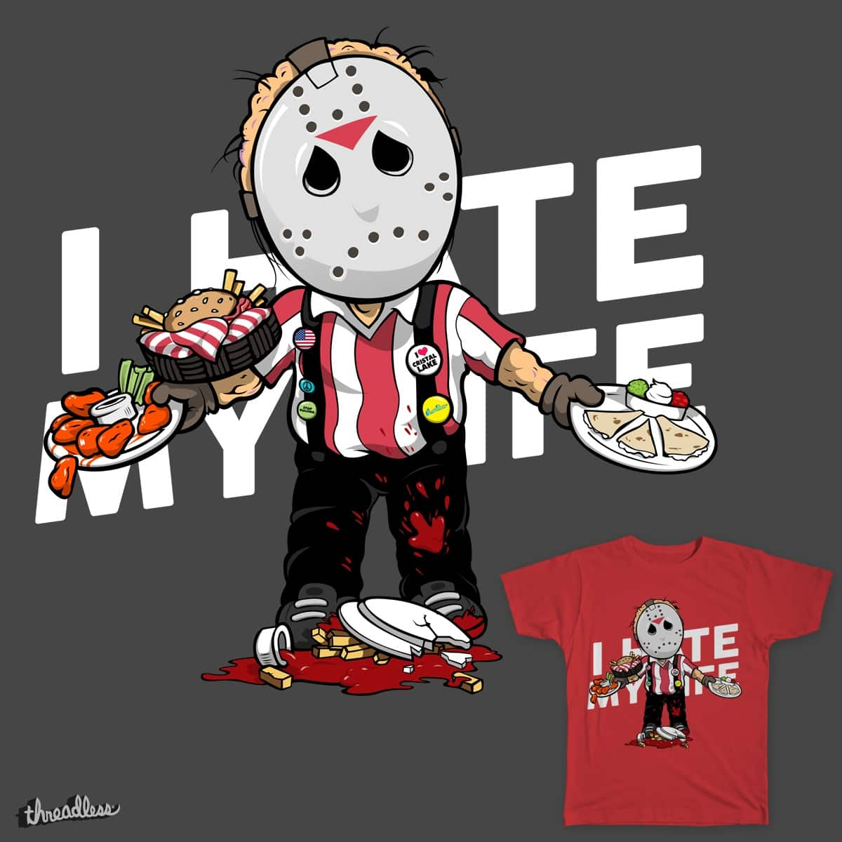 I hate my life by vadelate on Threadless