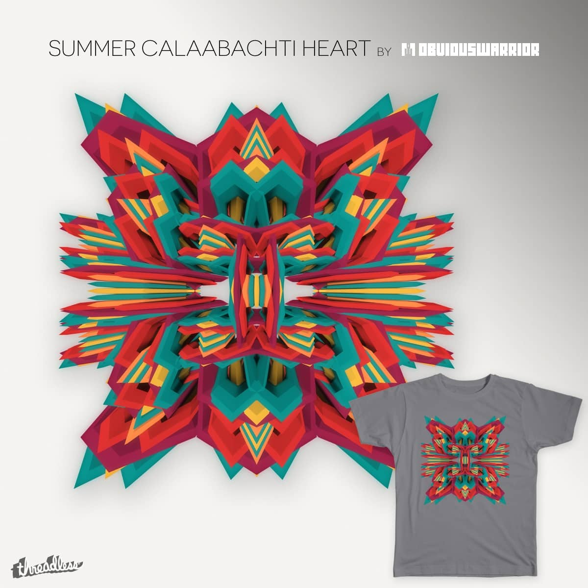 Summer Calaabachti Heart by obviouswarrior on Threadless