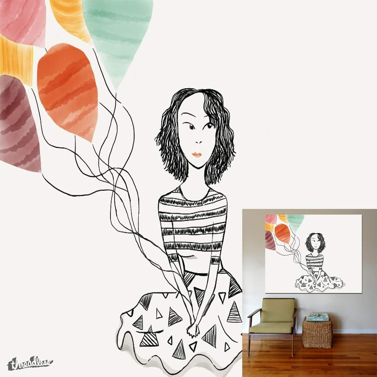 The Balloon Girl by morgan.janielle on Threadless