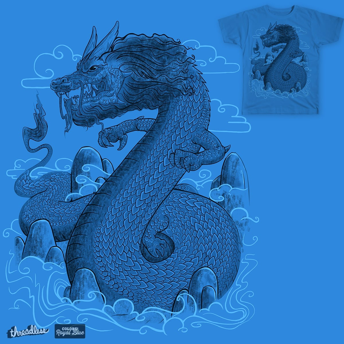 Blue Dragon by 7Ninja on Threadless