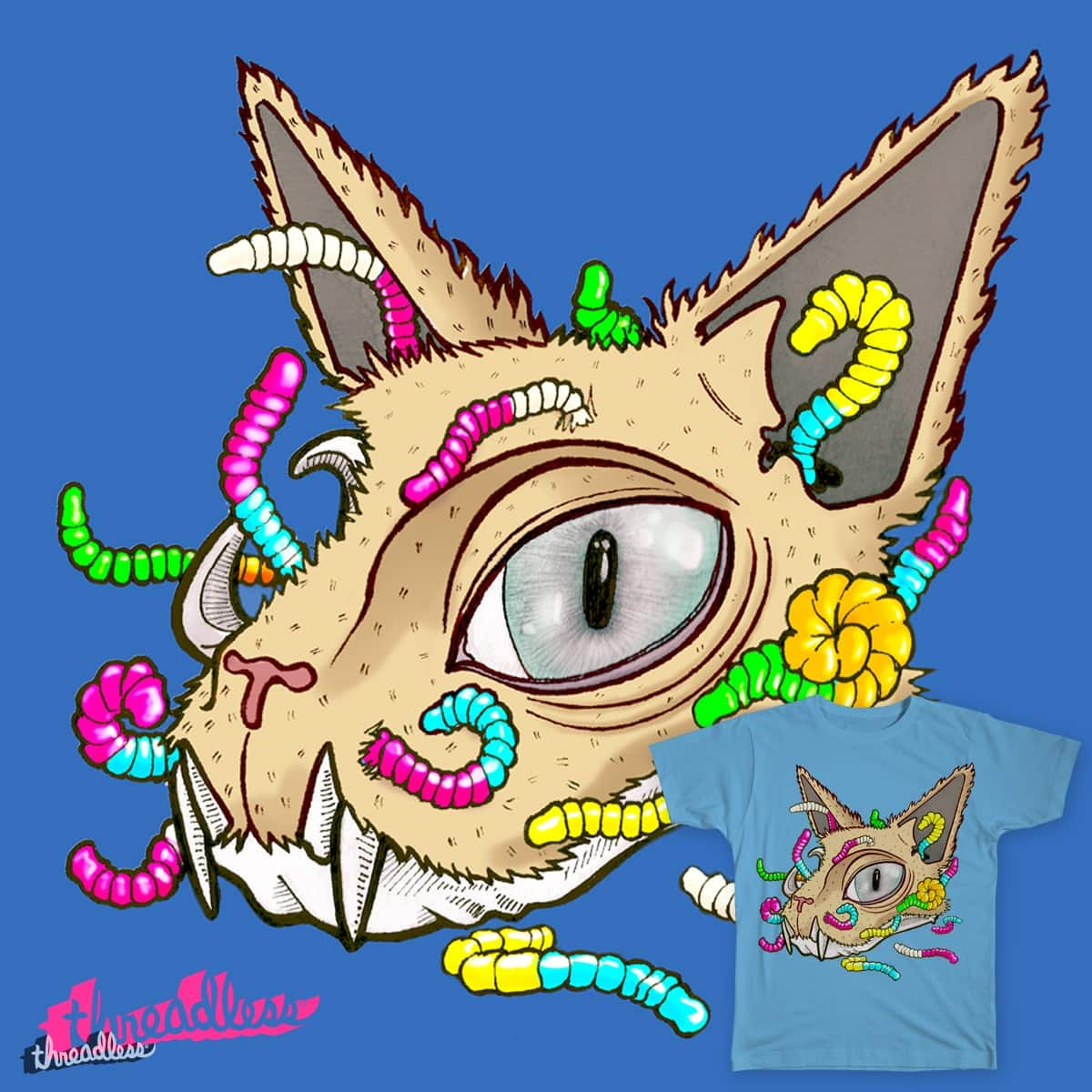 Decomposing Cat by Mrlima on Threadless