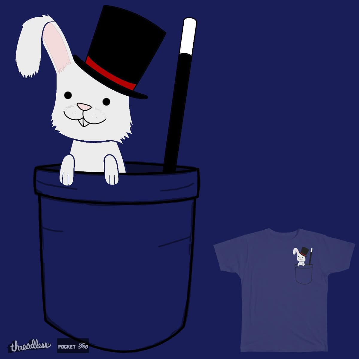 Pocket Bunny by Herbivore1 on Threadless