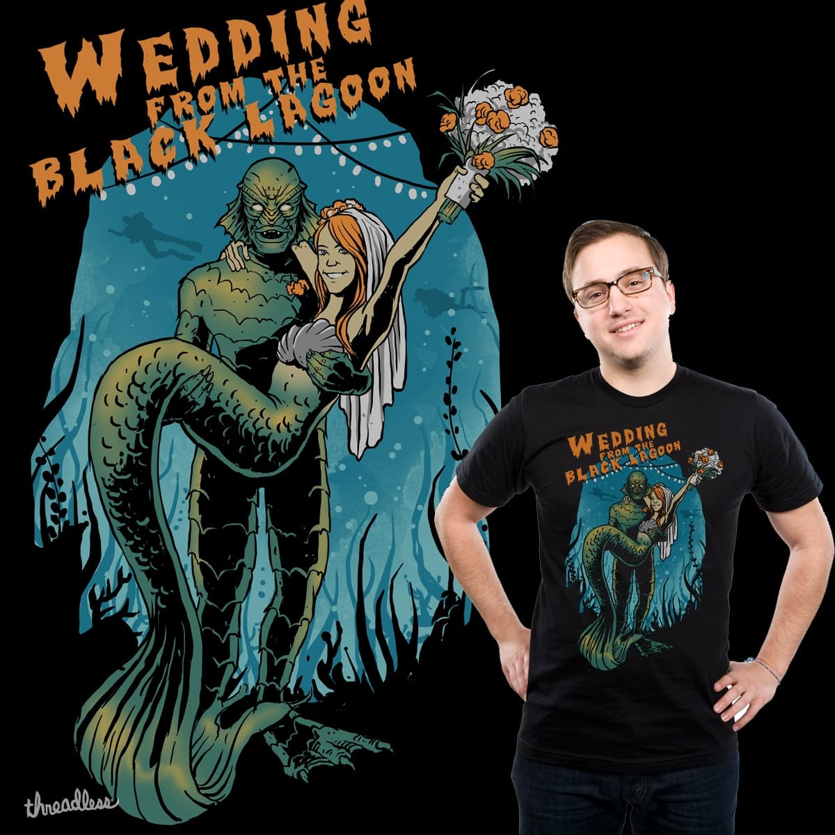 wedding from the black lagoon by ndrue182 on Threadless