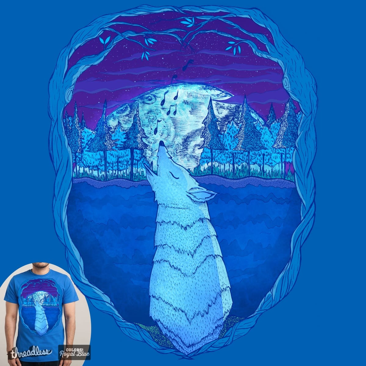 Once In A Blue Moon by nidya on Threadless