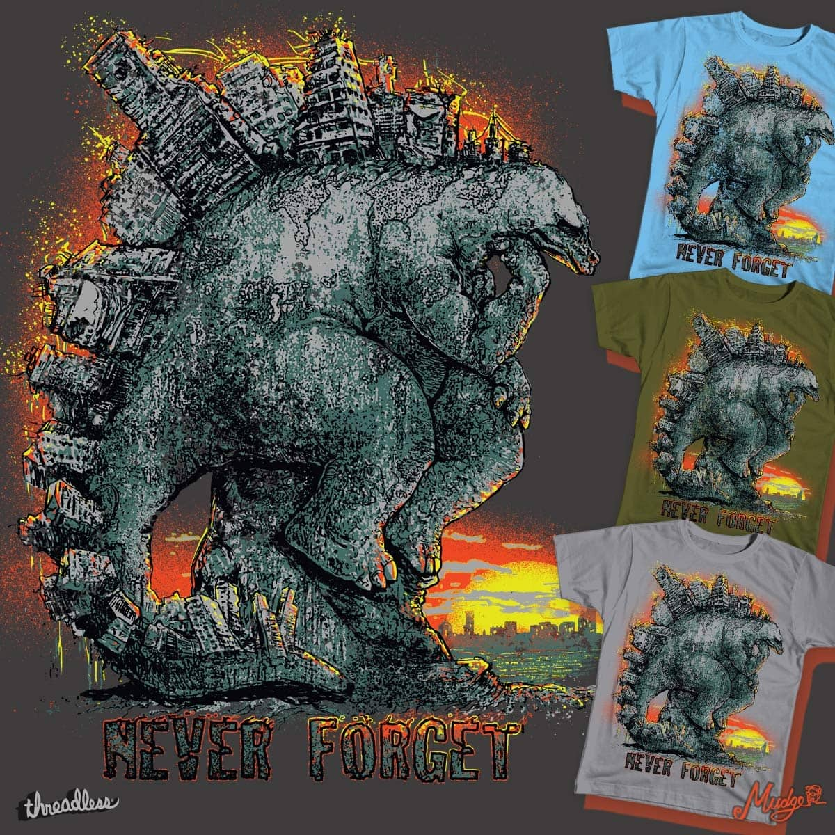 Never Forget Stego Sore Us by MudgeStudios on Threadless