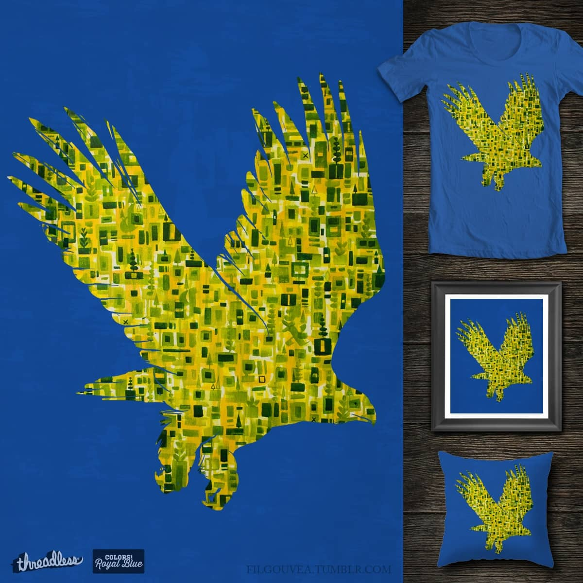 Geo Eagle by filgouvea on Threadless