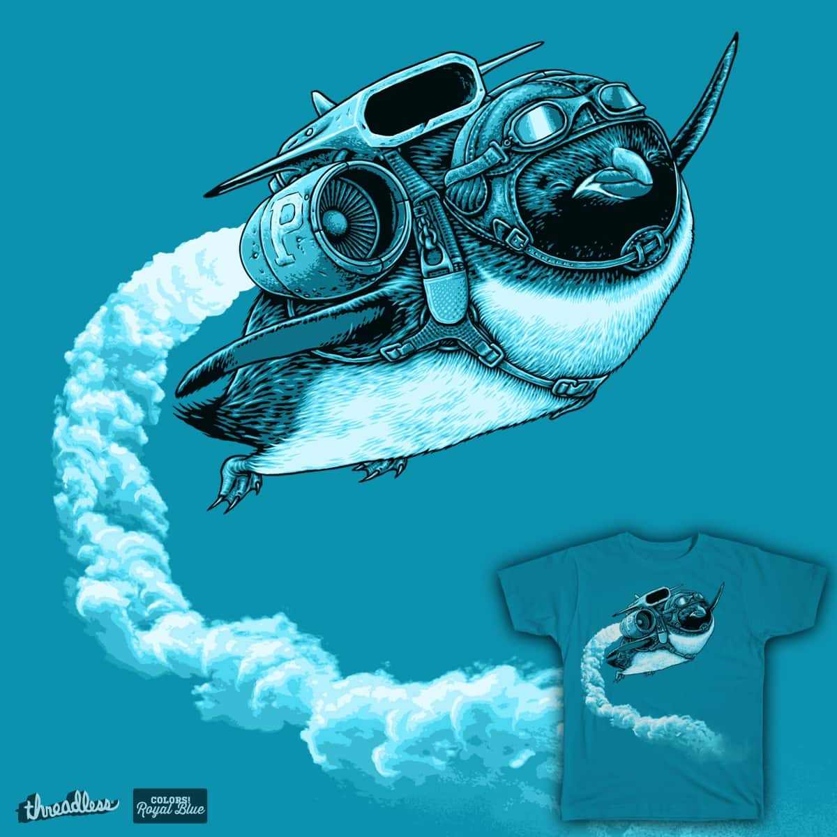 FLYING PENGUIN by aanmyers on Threadless