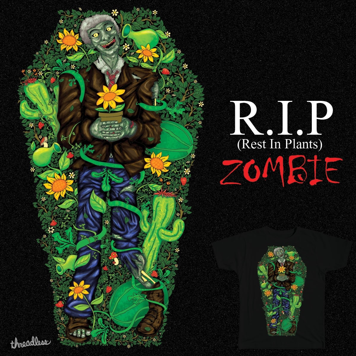 R.I.P Zombie by Dewedhe on Threadless