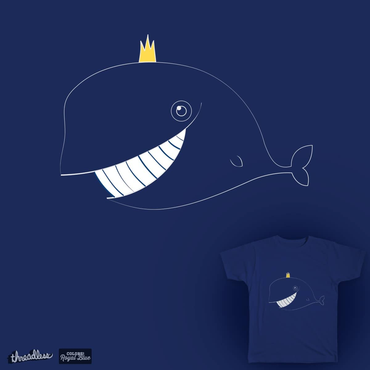 Roy, the Blue Whale by militsa.stefanova.54 on Threadless