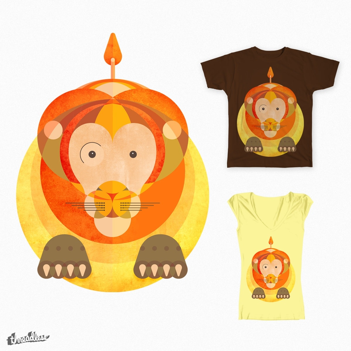 The rounded lion by juan-scocozza on Threadless