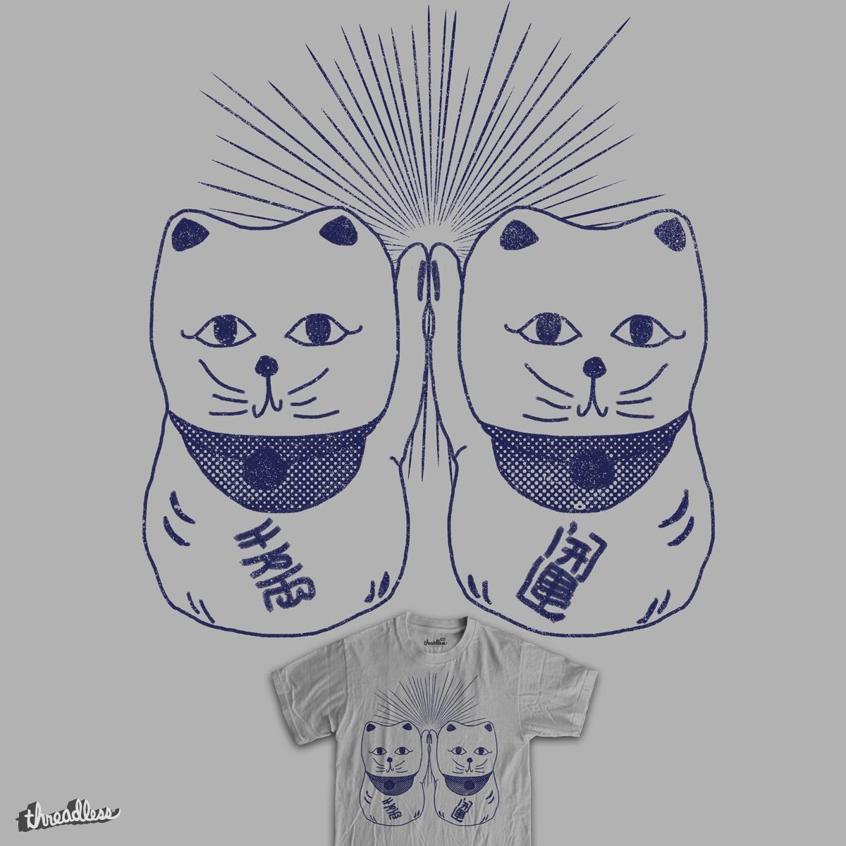 High Five Maneki Neko by RL76 on Threadless
