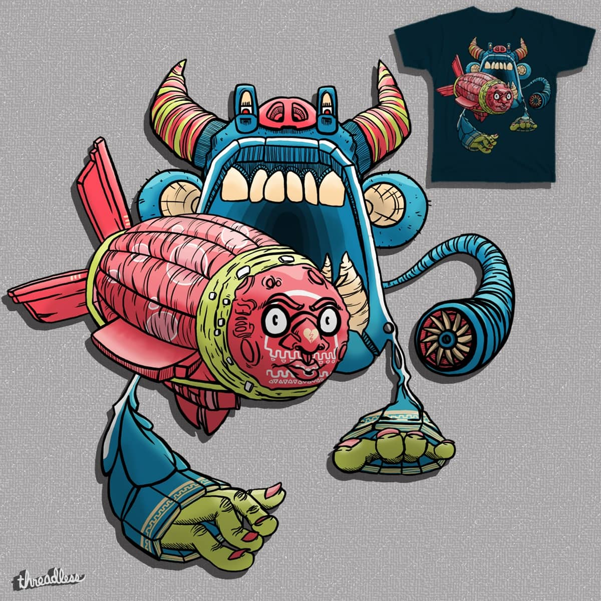 The Blimp and the Mino-Monkey-Taur by DriedUpPens on Threadless