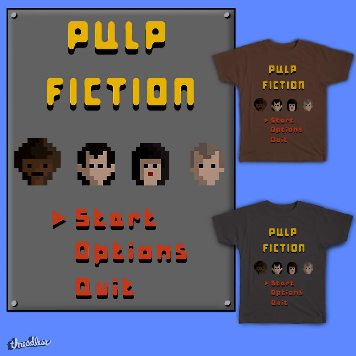 Pulp Fiction 8-bit by firmino17 on Threadless
