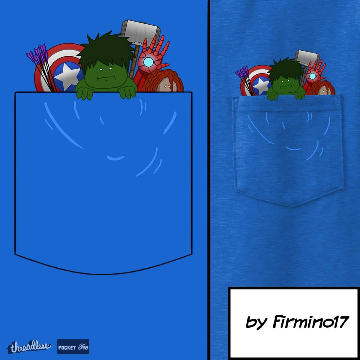Avengers in a pocket by firmino17 on Threadless