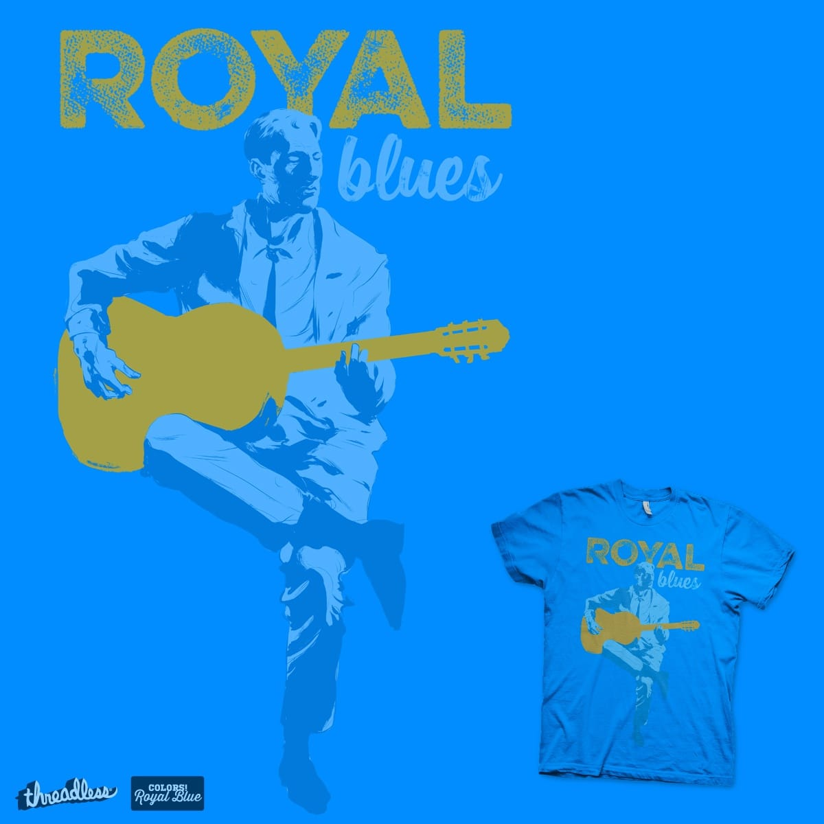 Royal Blues by hafaell on Threadless