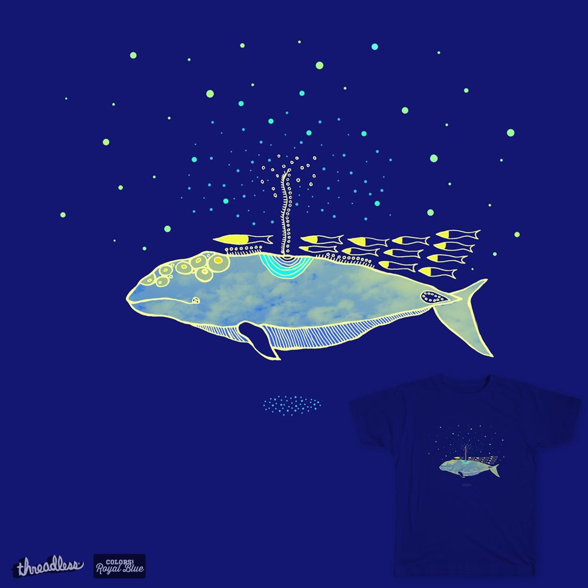 A Blue Whale by Three-wheeler on Threadless