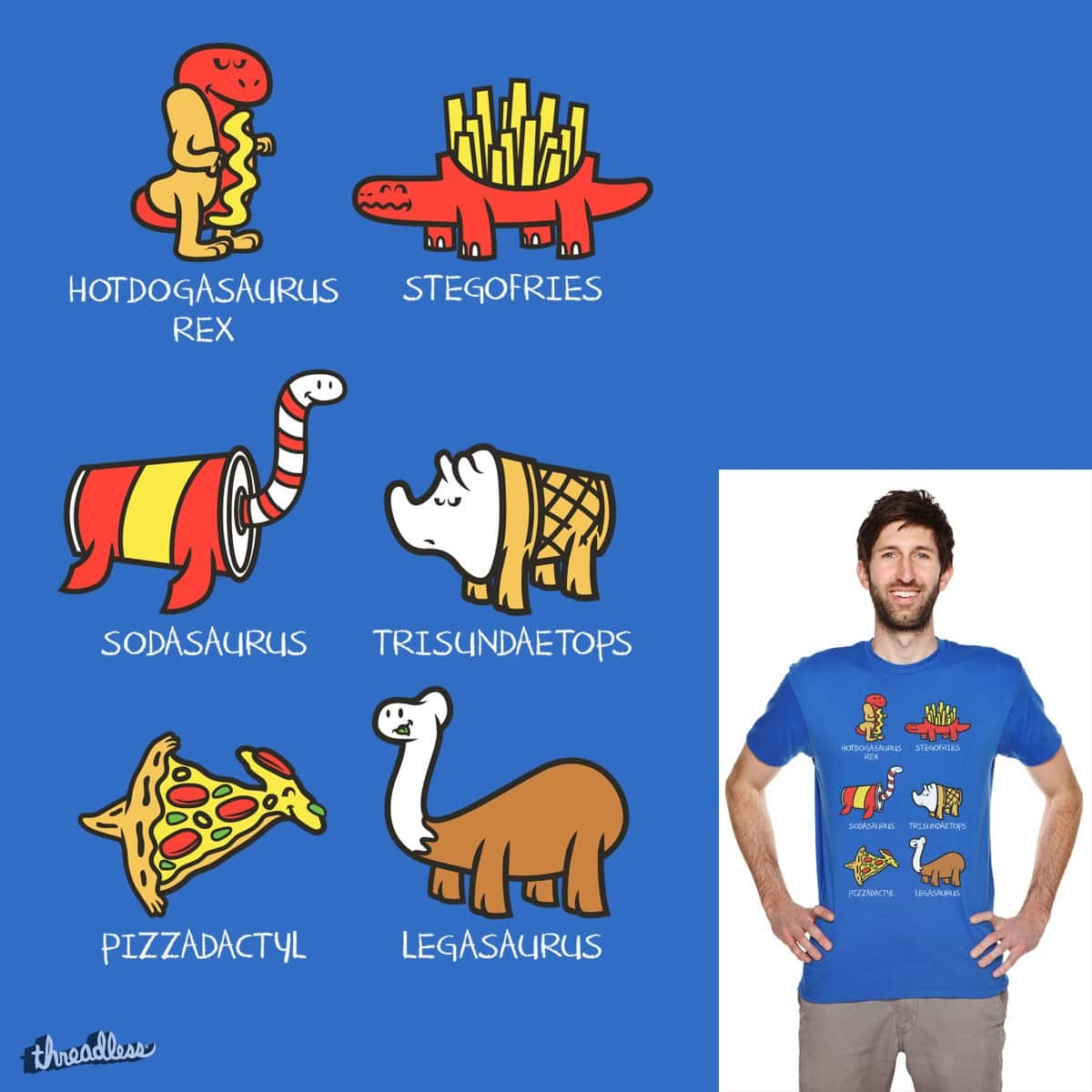 Dino Fast Food  by krisren28 on Threadless