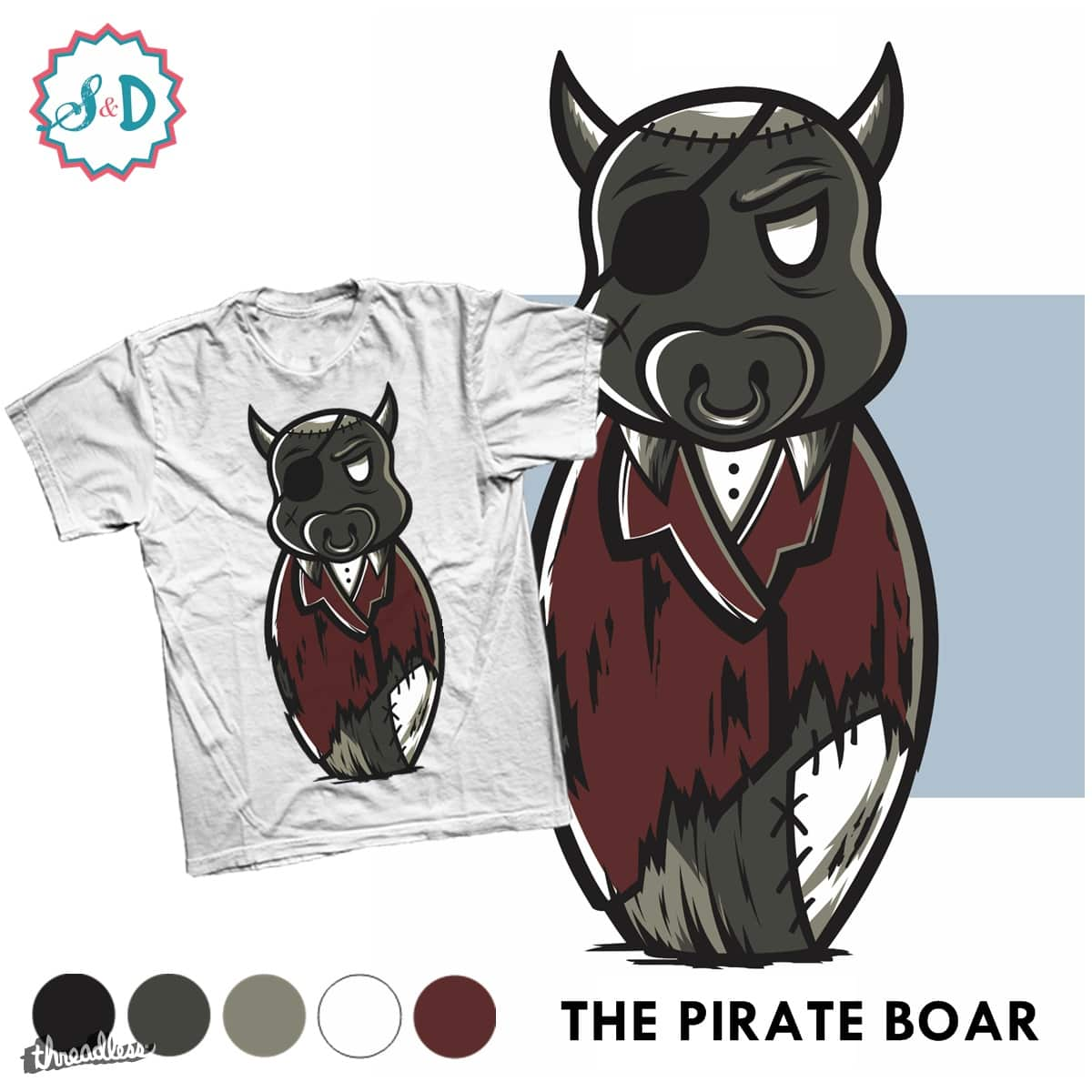 THE PIRATE BOAR by ScribbleNDoodle on Threadless