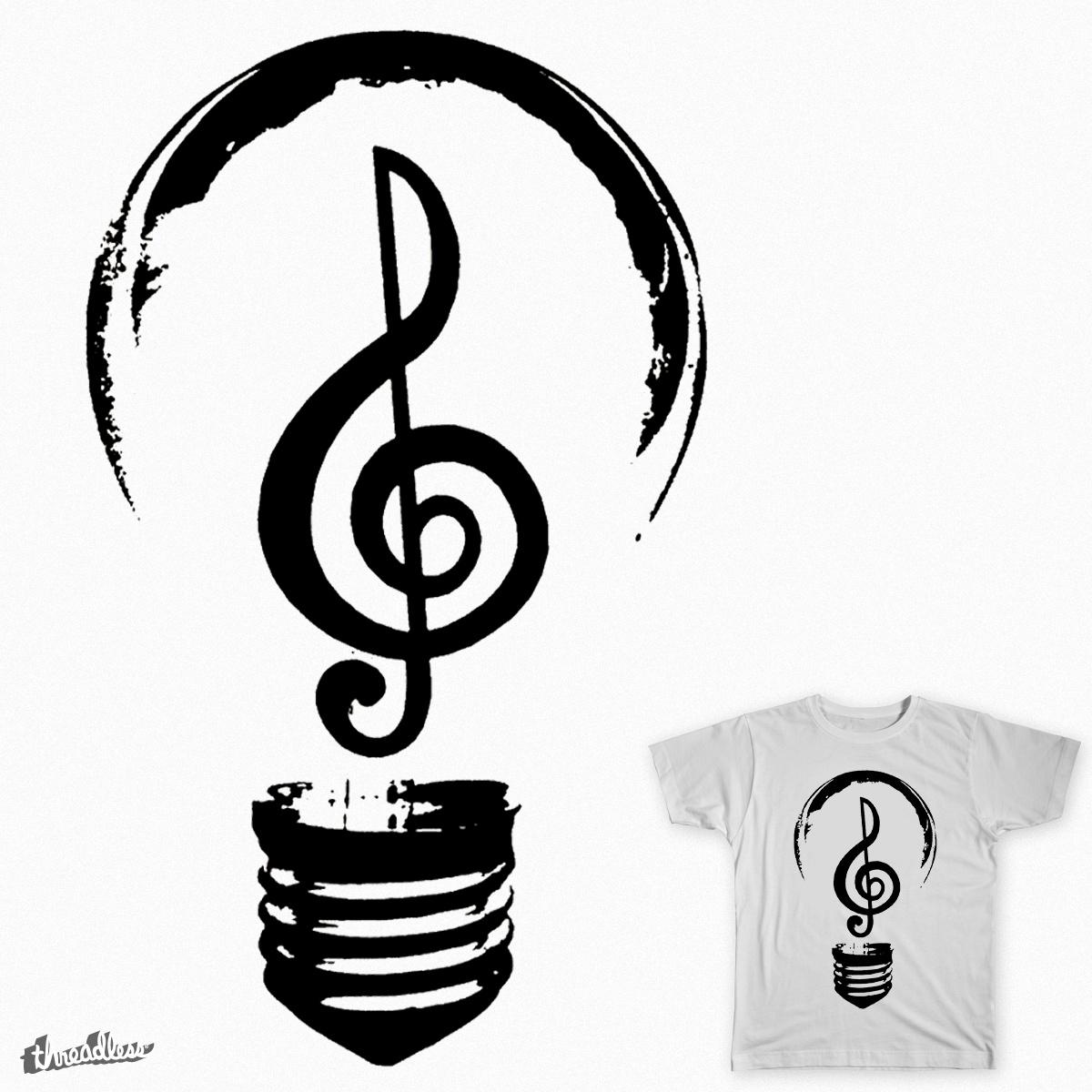 Music is Light by Birdstick on Threadless