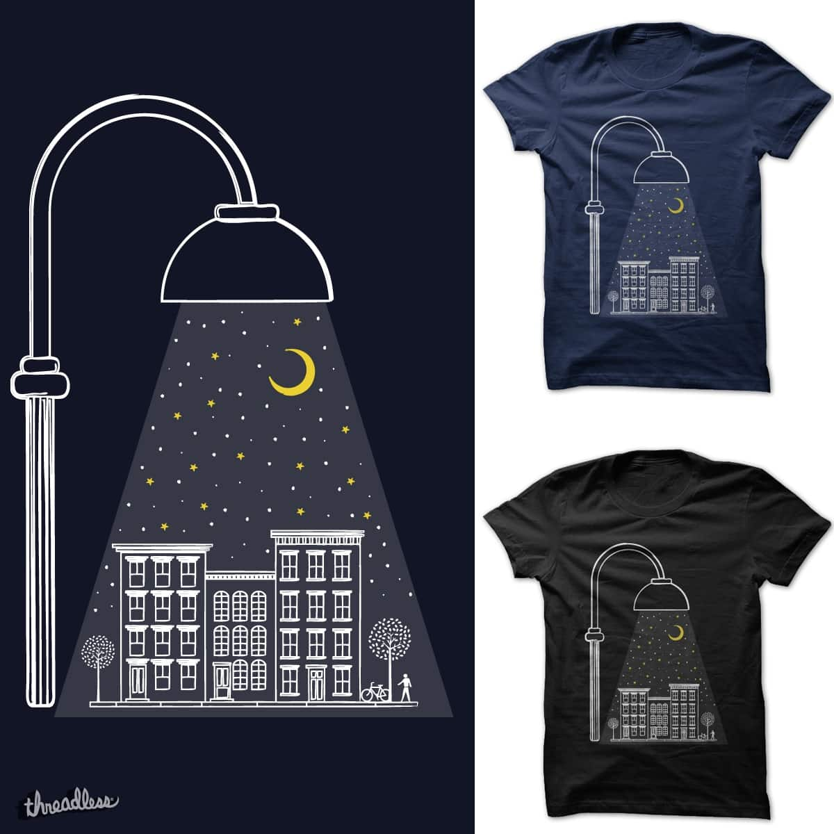 Street Light At Night  by heyale on Threadless