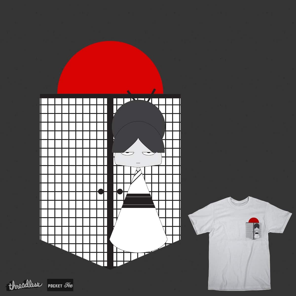 Japanese Girl by RED DATA b on Threadless