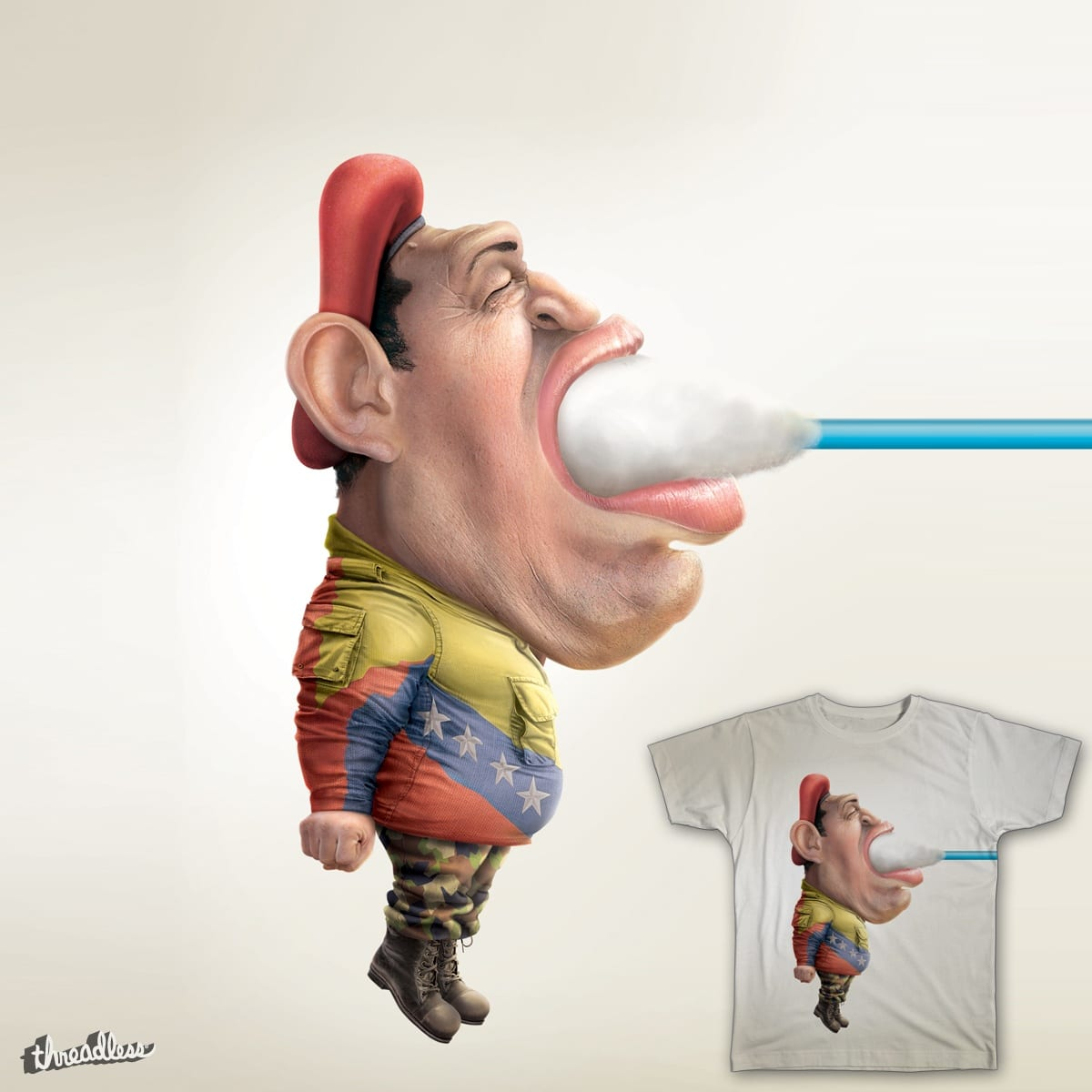 Clean out your ear from the trash you hear - Chavez by alopraestudio on Threadless