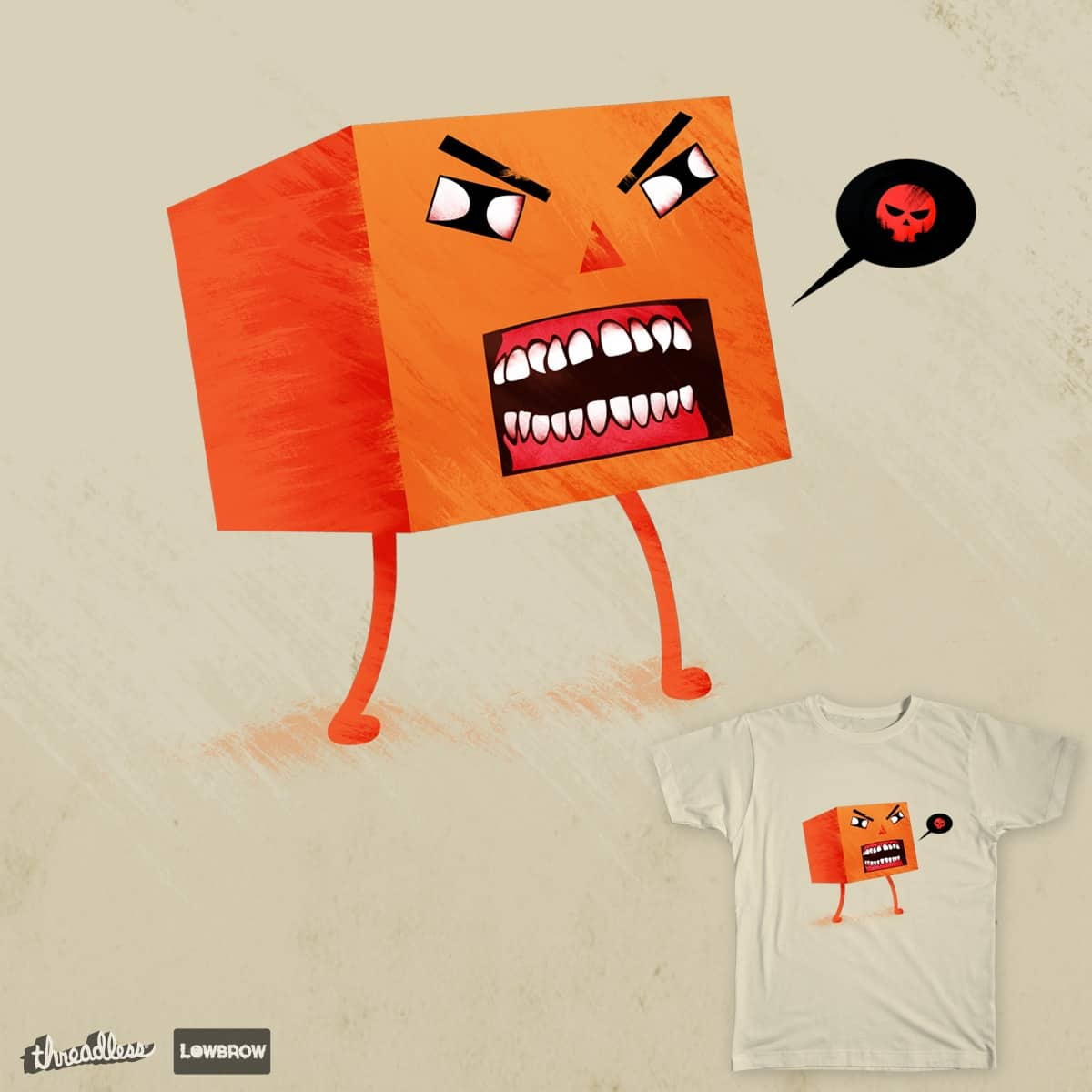 Angry Cube Man by Kentack on Threadless