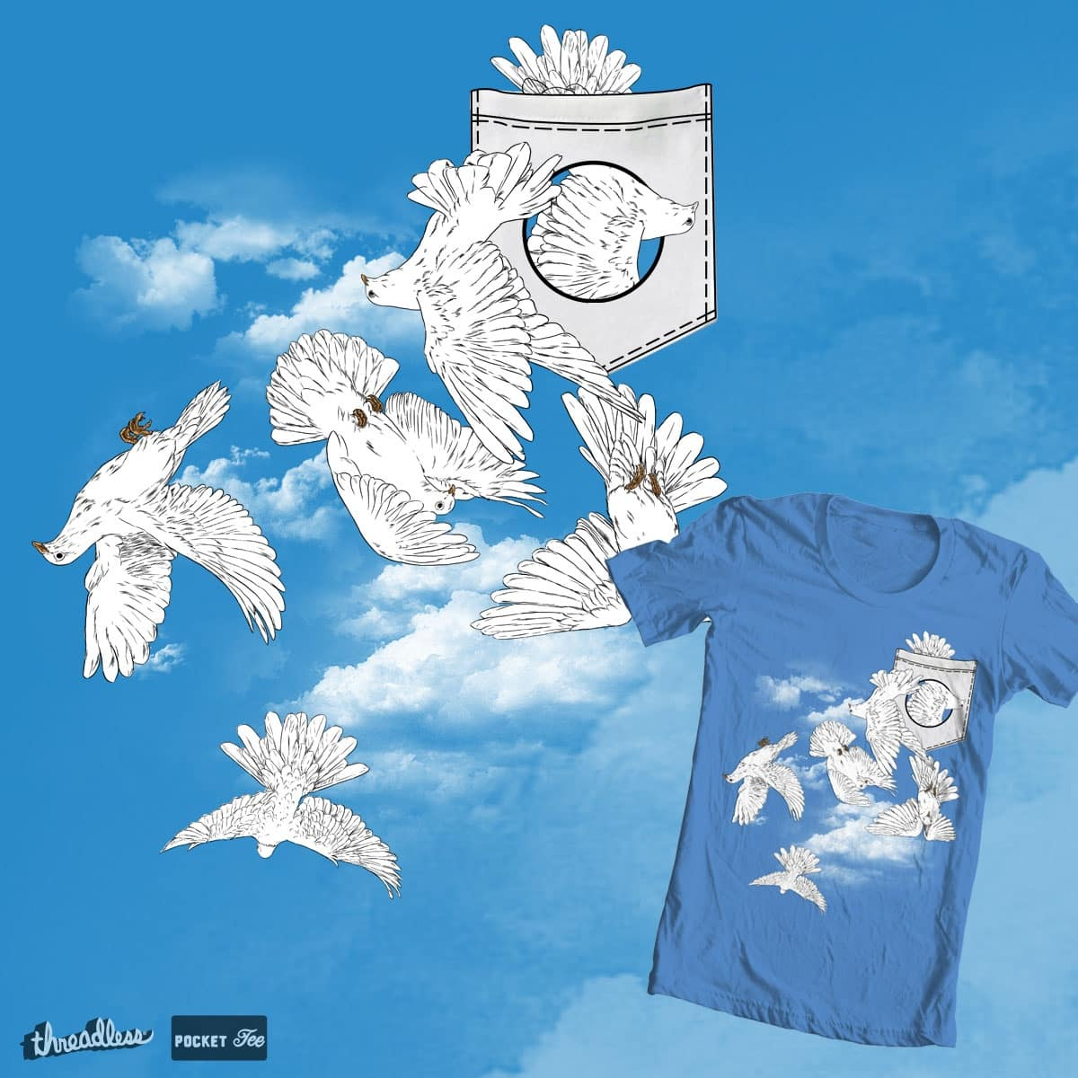 birds in the pocket by hadee on Threadless