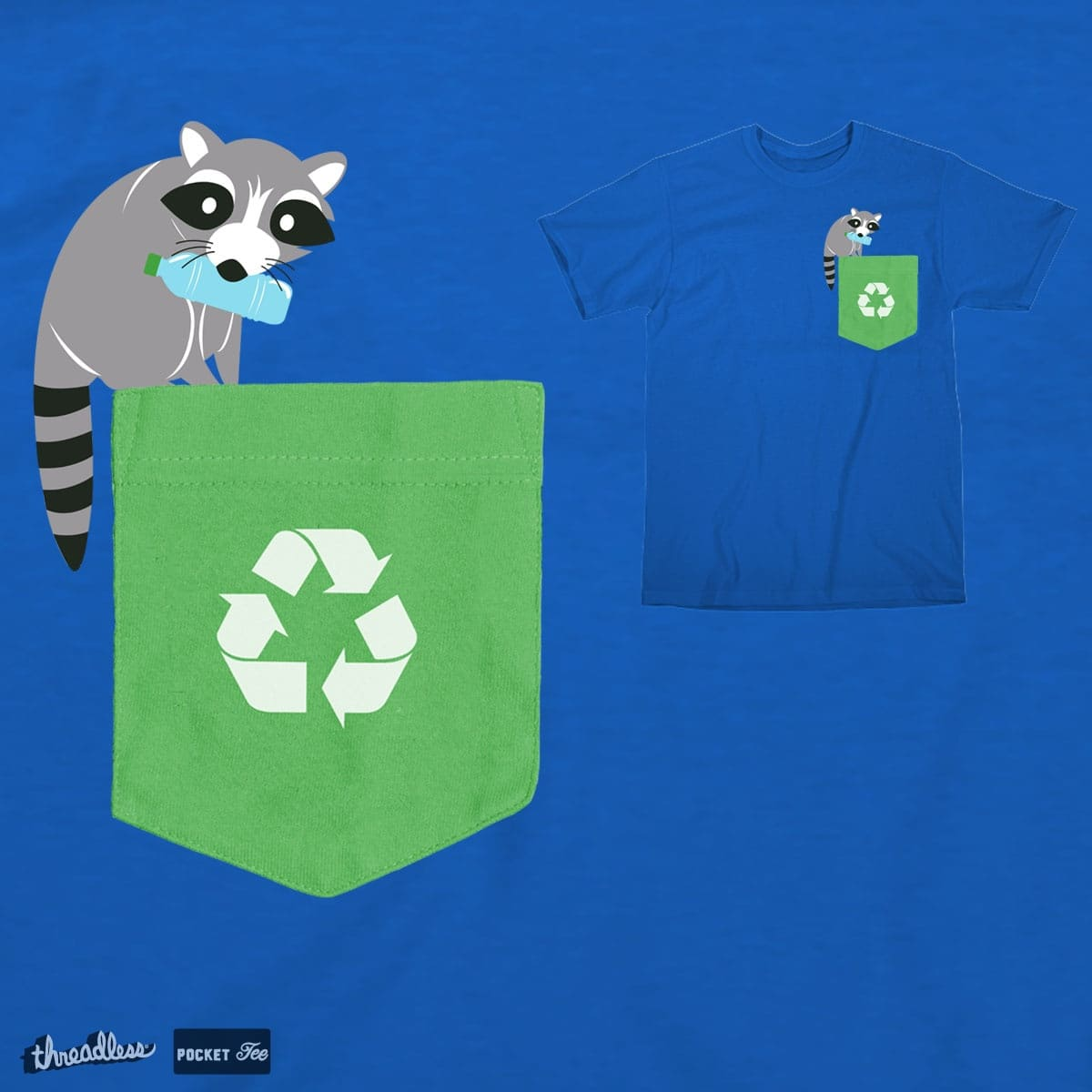 Recycling Racoon by dnice25 on Threadless