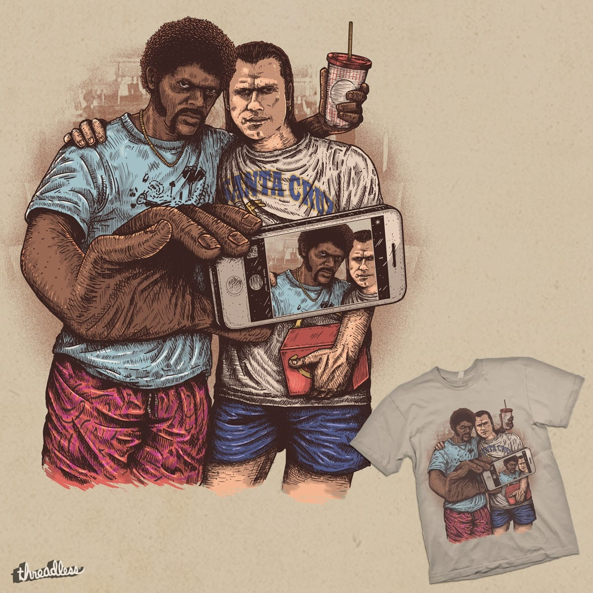 Pulp Selfie by eliude_valverde on Threadless
