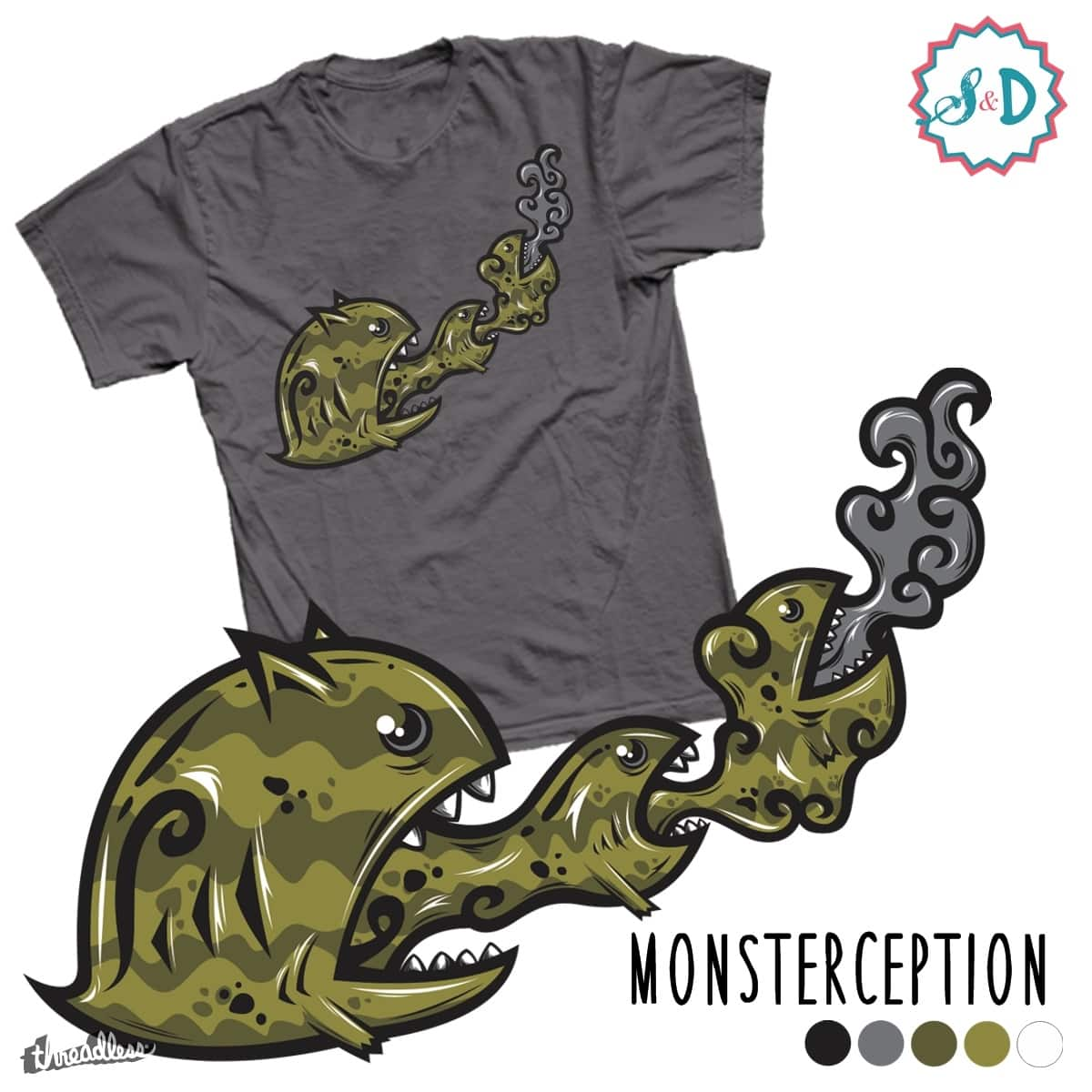 Monsterception by ScribbleNDoodle on Threadless
