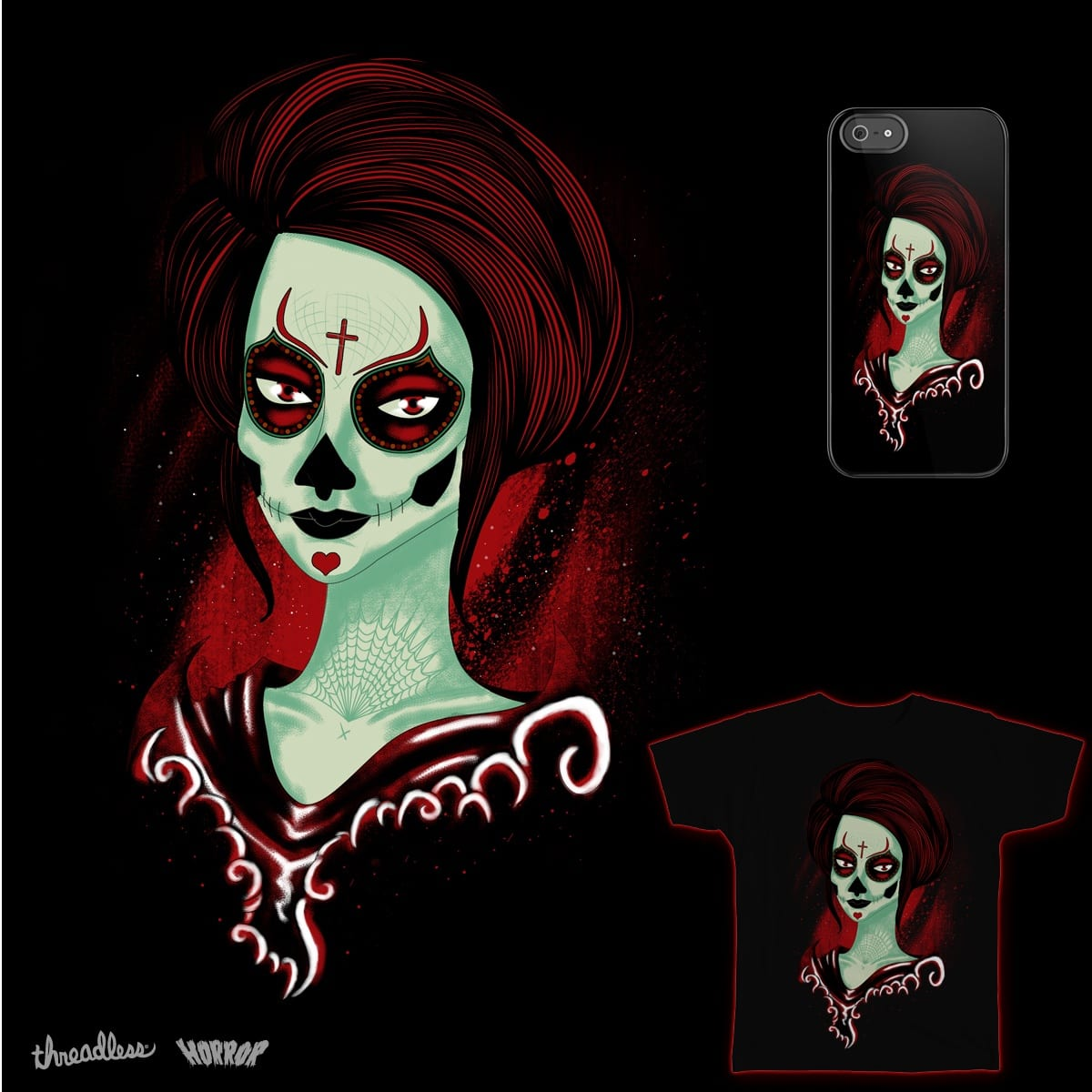 Death Girl  by samuelrd on Threadless