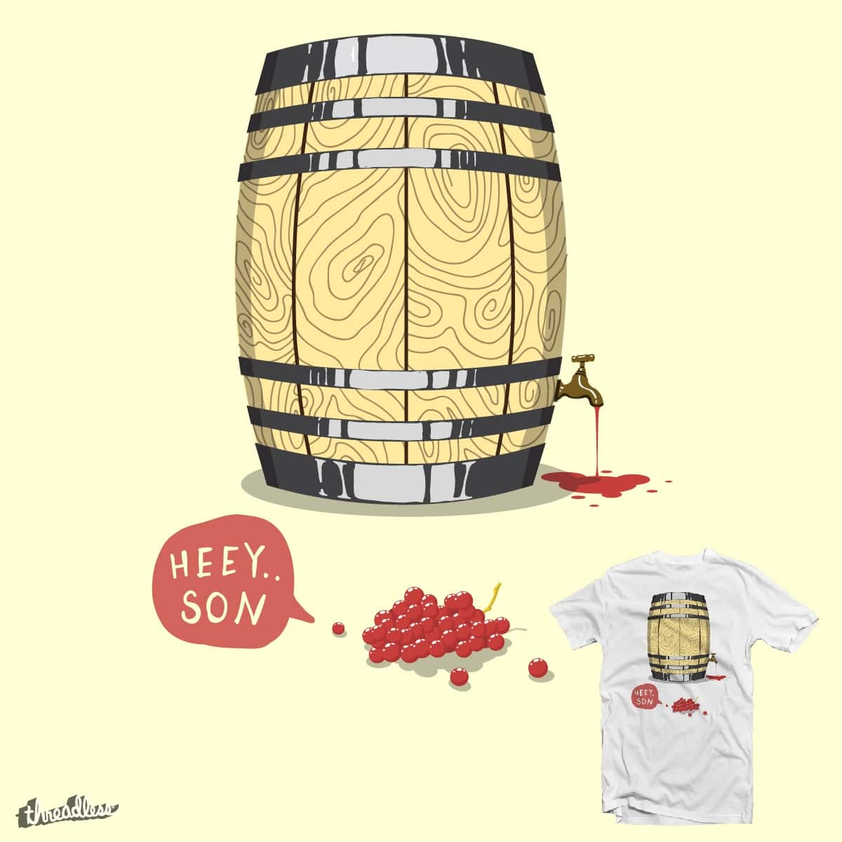 I'm a wine by BacteriArt on Threadless