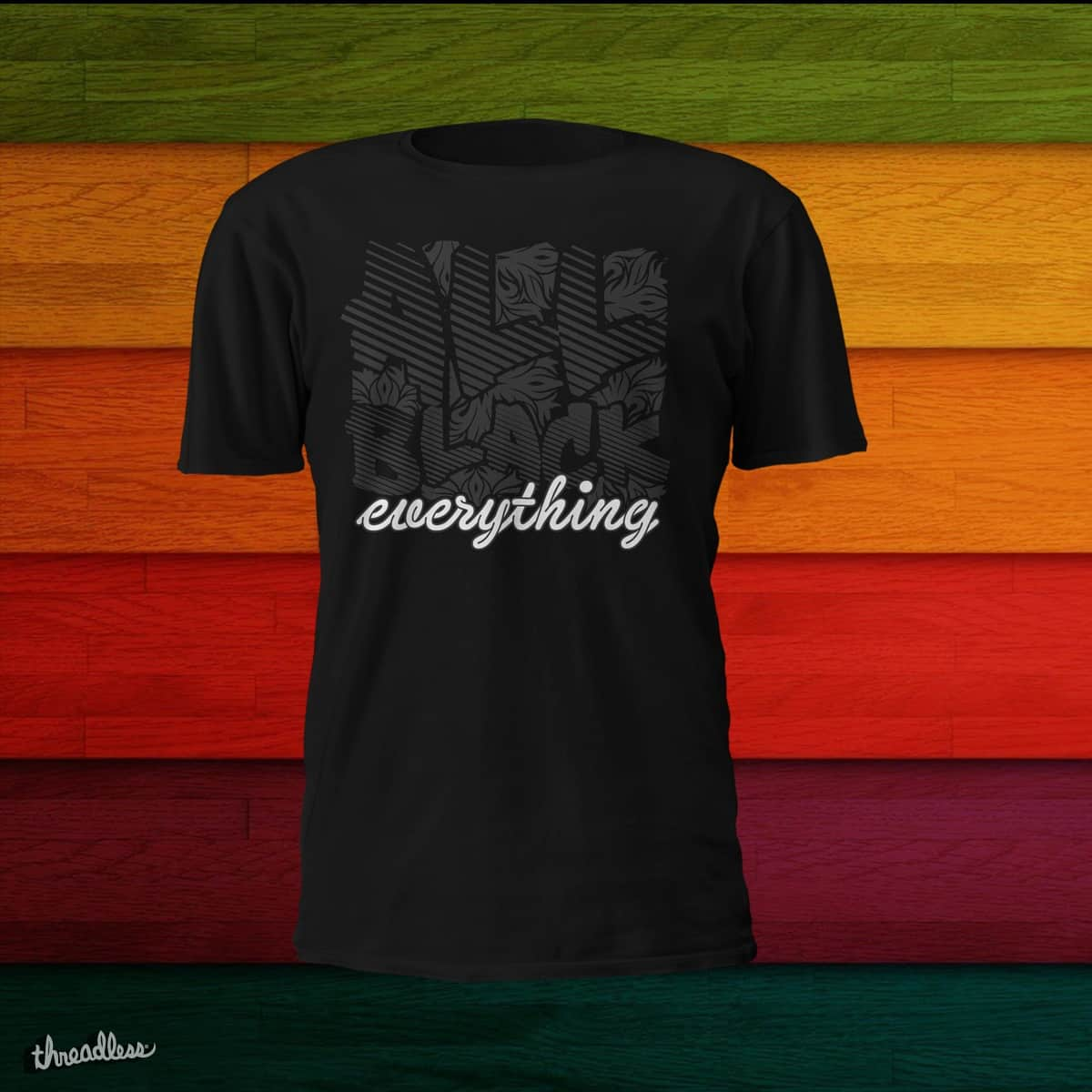 All Black everything v2 by tusclothing on Threadless