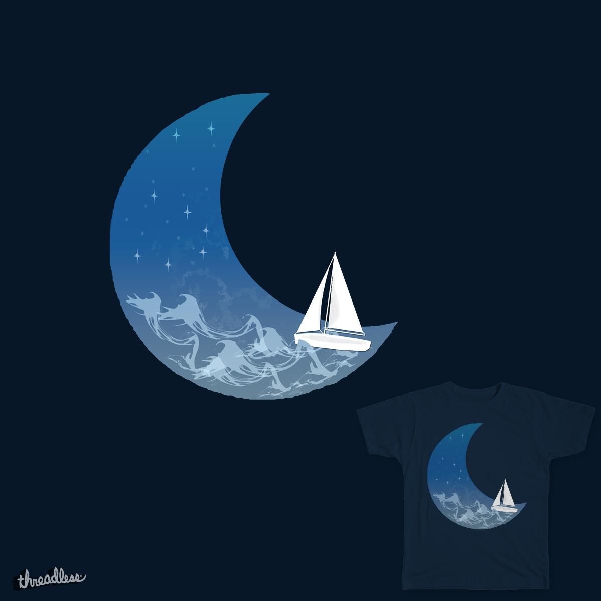 Moon Sailing by Sloganart on Threadless