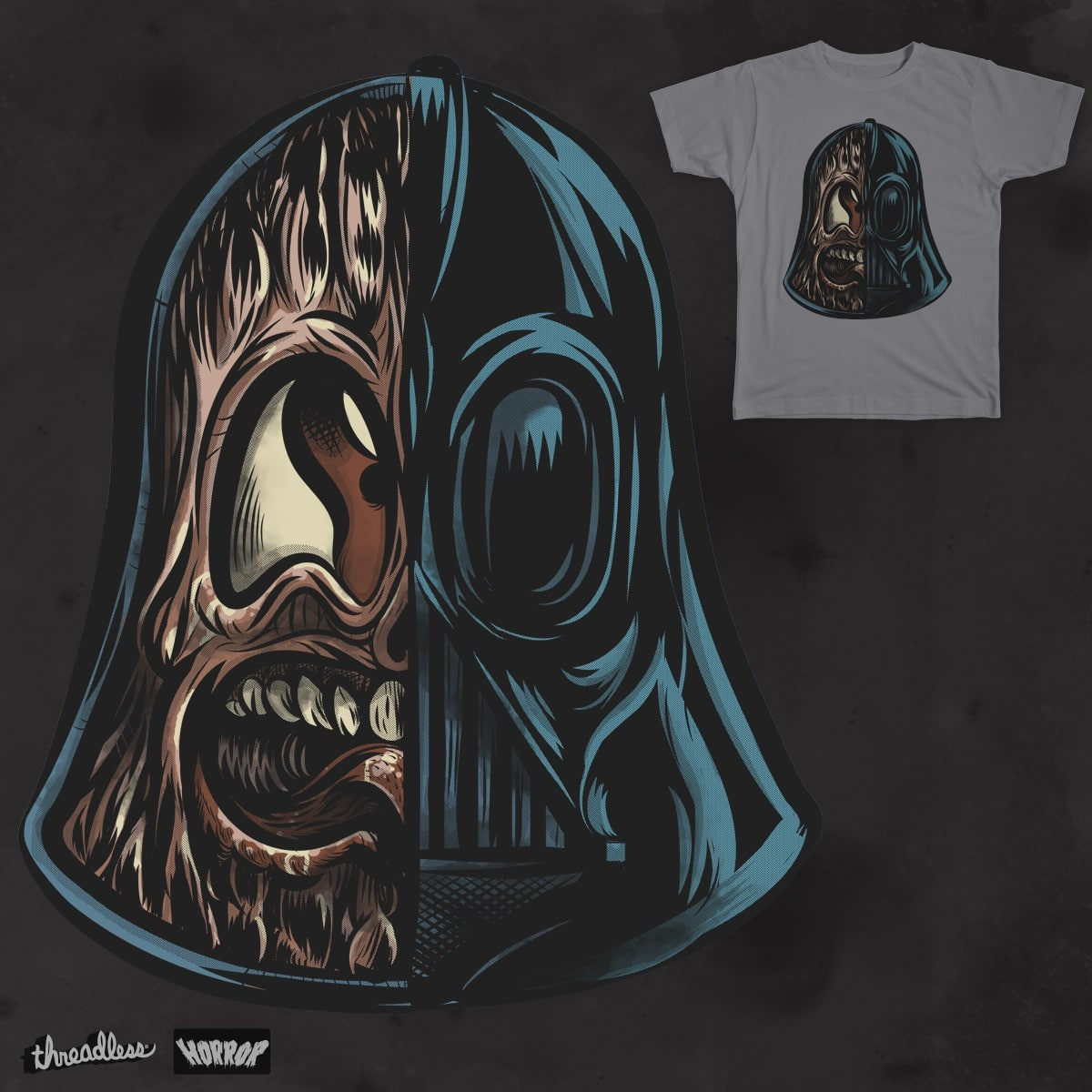 The Dark Side Of The Helmet by Gums. on Threadless