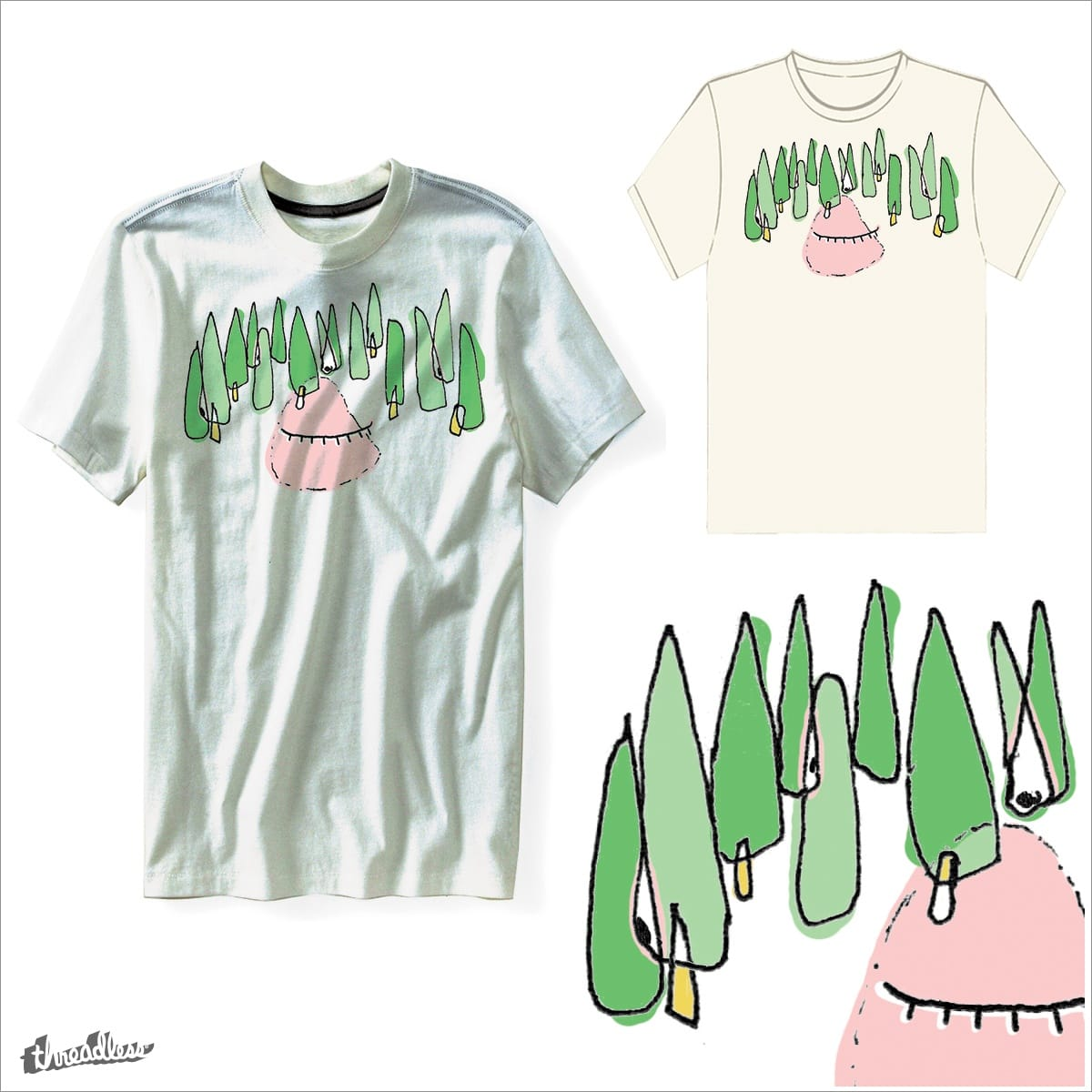 4 rest, 4 trees by phelup on Threadless