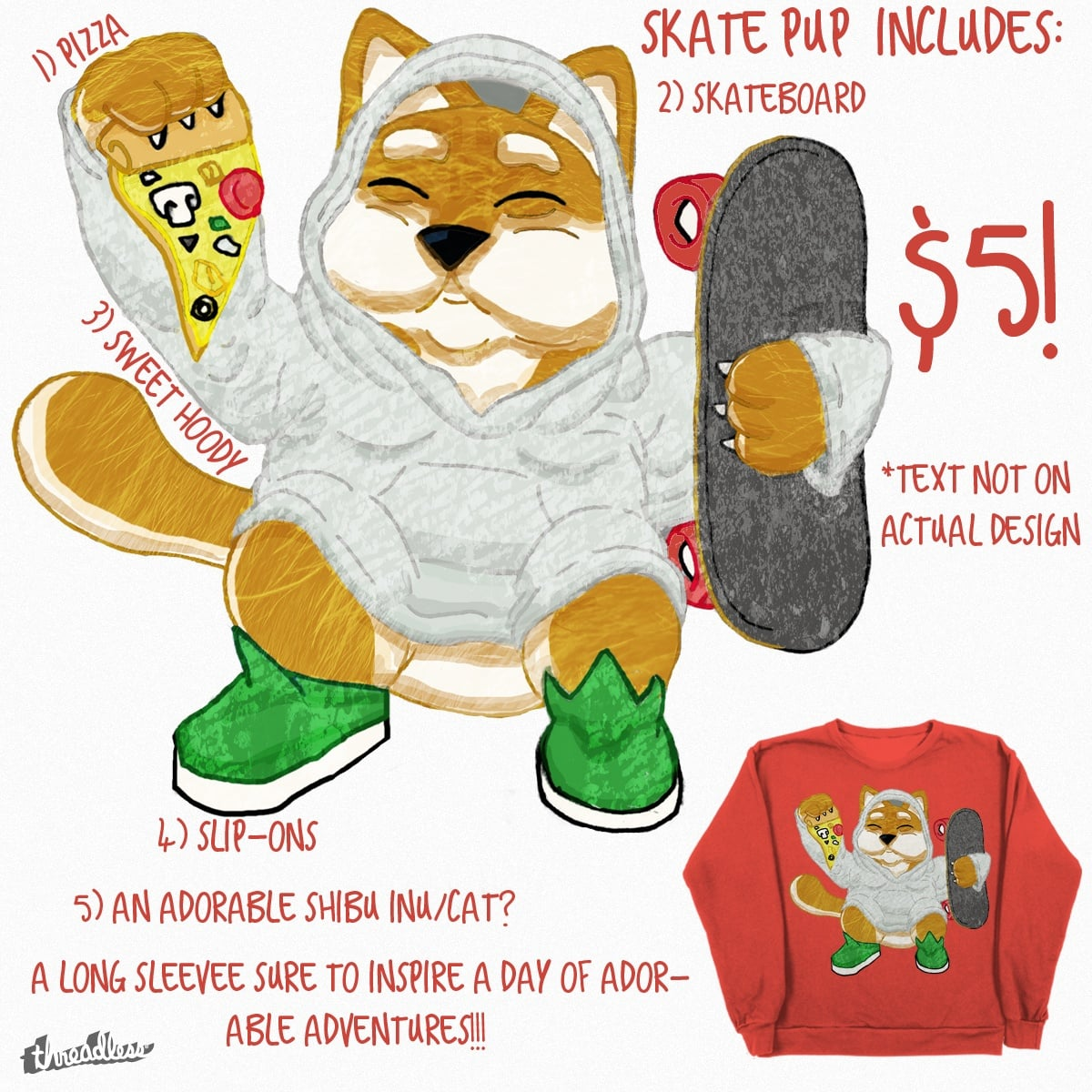 Skate Pup by garryson on Threadless