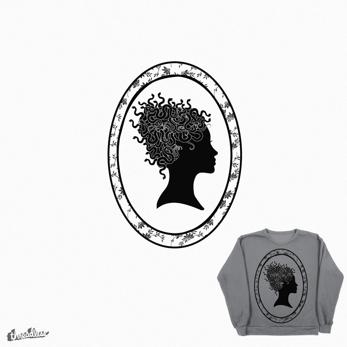 Medusa Silhouette  by aprilthiess on Threadless