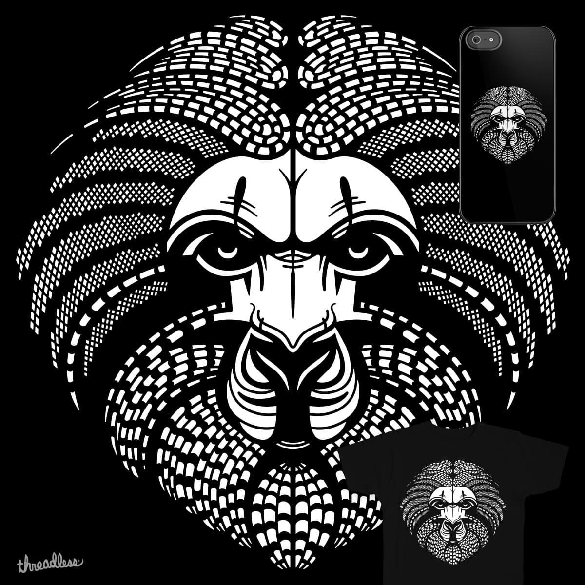 LION FACE MASK by PAPKOK on Threadless