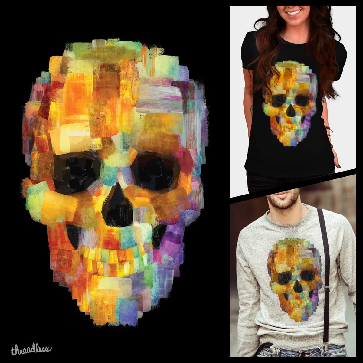 Skull Grunge by FranValleArt on Threadless