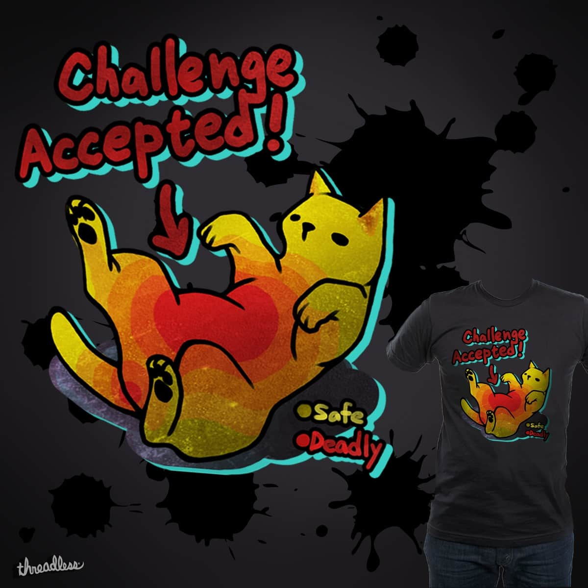 Challenge Accepted !! by ASH9700086 on Threadless