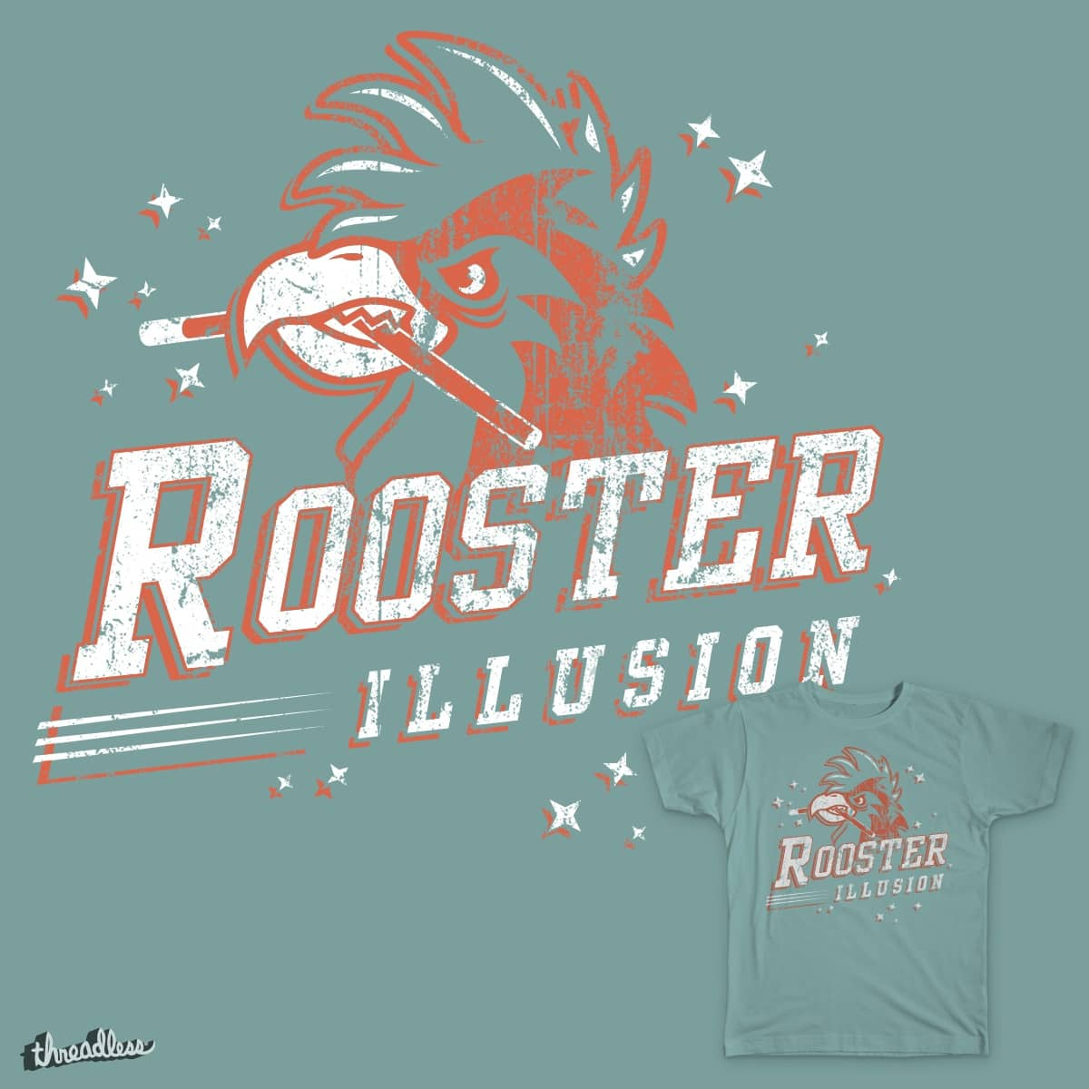 Rooster Illusion by srhartman on Threadless