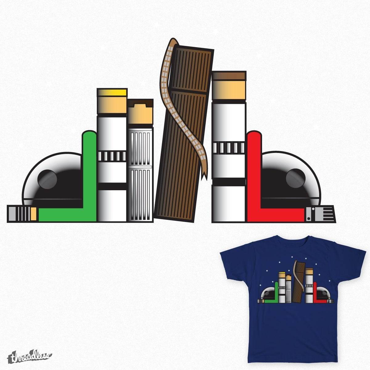 Imperial Bookends by donzal69 on Threadless