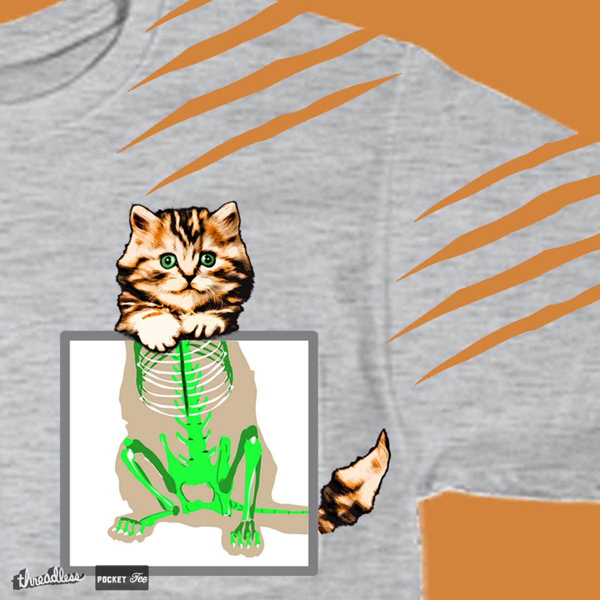 xray cat by Alektheone on Threadless