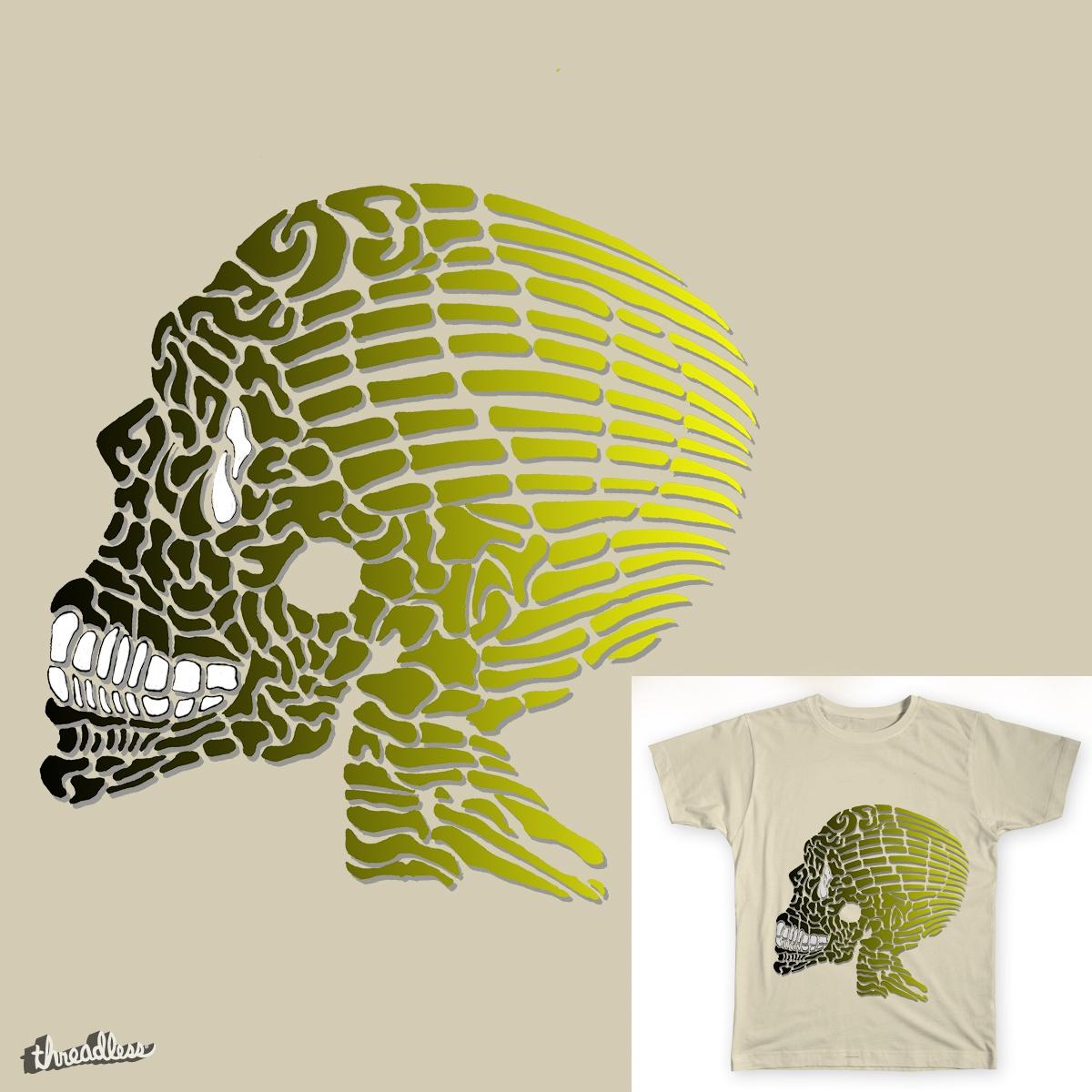 Gradient Skull by Javier_Mantilla on Threadless