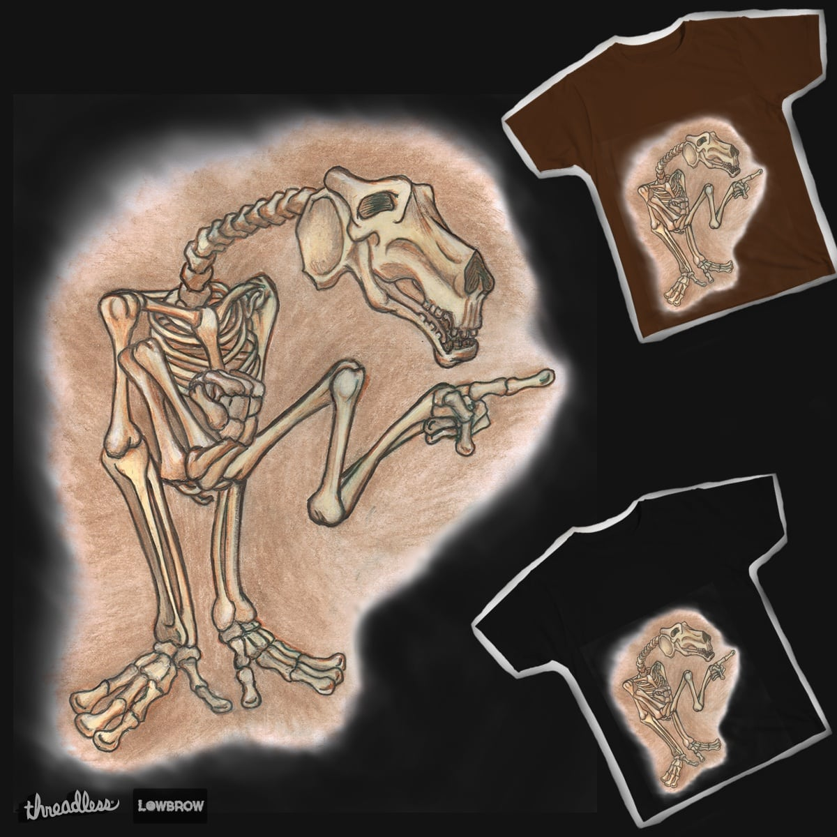 Alien Fossil by Javier_Mantilla on Threadless