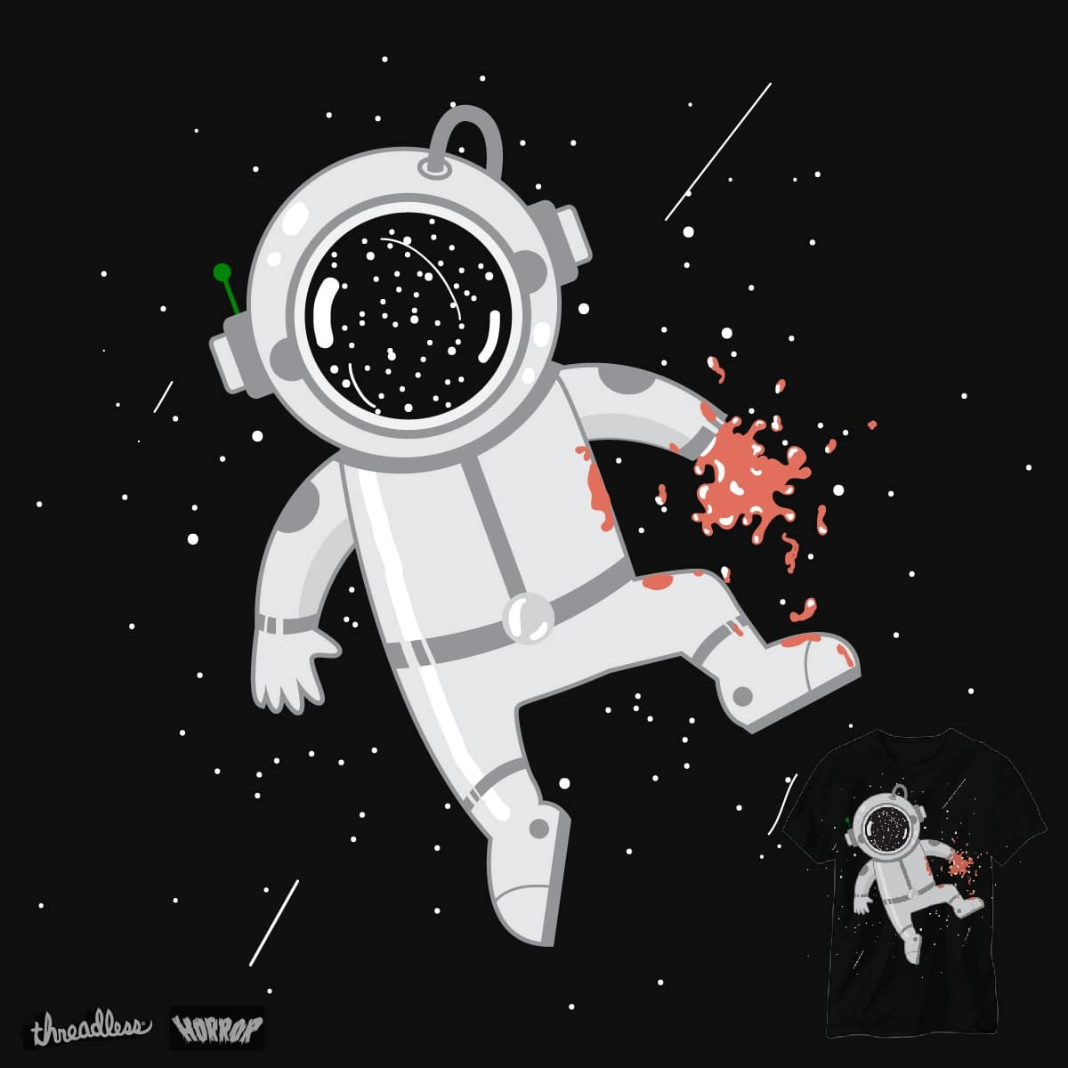 blood astronauts by BacteriArt on Threadless